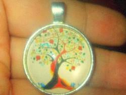 Tavaszi Életfa madárkás Tibeti ezüst Medál