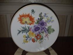 Herendi egyedi virág mintás falitányér ,mesterszignós