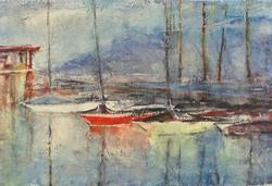 1A750 Magyar festő XX. század : Kikötő