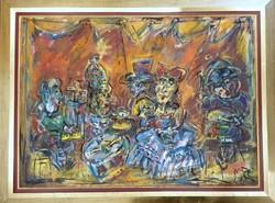 Tóth Ernő - Finálé 80 x 110 cm olaj, vászon, keretezve