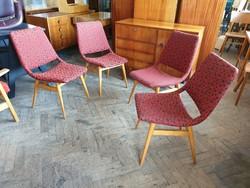 Retro régi kárpitozott mid century szék