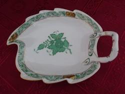 Herendi porcelán, Apponyi mintás - levél formájú - asztalközép.