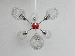 Régi retro space age mid century sputnik csillár mennyezeti lámpa