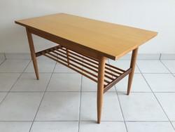 Retro régi polcos magasfényű Velence asztal mid century