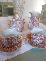 Art deco szögletes teás készlet