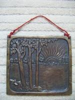 Hardtmuth L. Budapest bronz falidísz