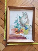 Akvarell csendélet festmény, szignós, méret jelezve