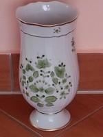 Eredeti Hollóházi zöld scarbancia mintás váza  új jelzett