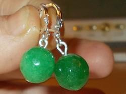 Smaragd kristály köves 925 Ezüst Fülbevaló