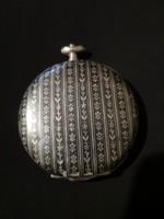 Antik ezüst zsebóra tok