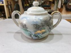 Japán porcelán cukortartó