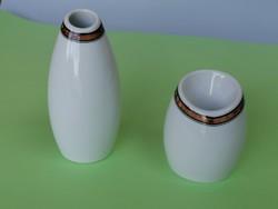 Retró formatervezett váza és gyertyatartó szett