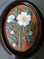 Svéd Gabriel virágos kerámia kép