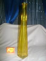 Borostyán színű dísz üveg