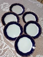 Zsolnay Pompadour III. 6 db süteményes, desszertes, csemegés tányérok, készlet pótlásra