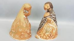 Kovács Margit Ádám és Éva kerámia figurák