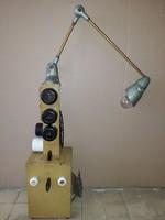 Mid century Loft Industrial trafó, elosztó, asztali lámpa, műhely lámpa