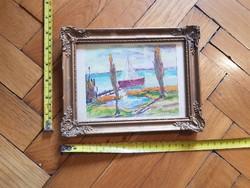 Ny.I., avagy Nyári István, tempera festmény,gyönyörű, harsogó színekkel,Balaton