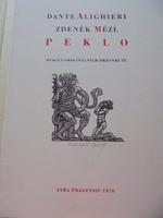 Zdenek Mezl grafikáival díszített Dante kötet