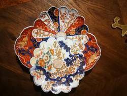 Kínáló, Japán legyező forma és minta kagyló kínáló! Gyüjteménybe  luxus kináló. ARITA porcelán!