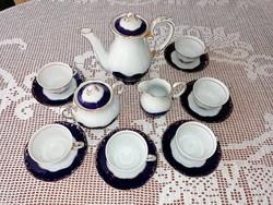 Zsolnay Pompadour III. 6 személyes kávés, mokkás készlet