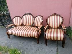 Barokk kanapé 1db fotellal