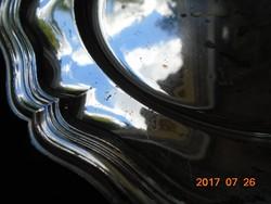 Barokk antik ezüstözött tál 25,5 cm