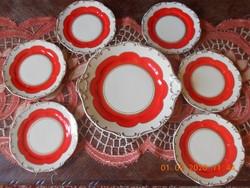 Zsolnay süteményes készlet