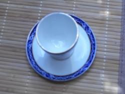 Antik kék  mintás Cauldon Ware porcelán lágytojás tartó