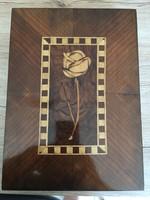 Intarziás fa doboz,kazetta