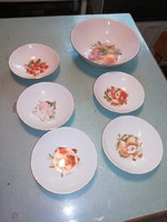 Bavaria SCHUMANN ARZBERG porcelán kompótos ,salátás készlet