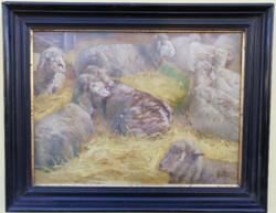 Stiasny Aladár (1881-1920) olajfestmény