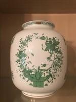 Nagyméretű Herendi indiai kosár mintás váza!