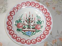 Antik, régi Körmöcbányai porcelán falitányér