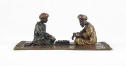 0X407 Antik kétalakos orientalista bécsi bronz