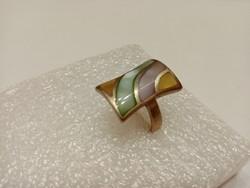 Csodás gyöngyház ezüst gyűrű