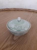 Hollóházi jelzett porcelán cukortartó