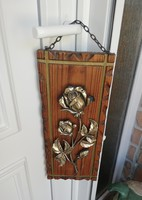 Gyönyörű rózsás, rózsa mintás, virágos fa kép, Gyűjtői Szépség
