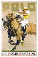 Angol lovaspóló sport játék mérkőzés reklámja 1937 Vintage/antik plakát reprint