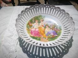 Porcelán kínáló, Angelika kaufmann stílusú! Jelenetes