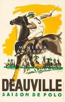 Francia lovaspóló sport játék mérkőzés reklámja 1923 Vintage/antik plakát reprint