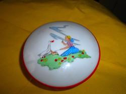 Drasche kézi festett   porcelán  cukortartó