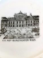 Áttört mintás Burgtheater régi emlék tál, gyűrű tálka