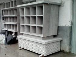 Kegyeleti építmény,  -kolumbárium- előregyártott urnatartó elemei