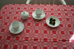 Kávézás - Fehér áttetsző porcelán csésze-pár cukortartó + 1 tányér