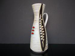 Igazi retro hibátlan Jasba kerámia váza, 25 cm