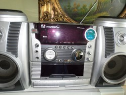 Silva Schneider PCD 599 RC hordozható hifi CD-és,  kétkazettás