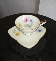 Alka Kunst Bavaria német Gyönyörű virágos kávés csésze szett, porcelán, Gyűjtői darab