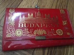 Retro Piros Budapest Pénztárca (1960-70-es évek)