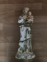 Nagyméretű szépen festett Mária Kis Jézussal gipsz szobor
